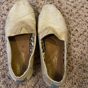 Toms Glittery Sand Shoes Sz6